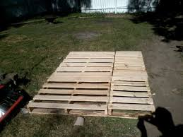 Crate Bed Frame Pallet Wood Bed Frame Queen Size