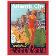 Pennsylvania travel style images Atlantic city pennsylvania railroad metal sign travel decor jpg