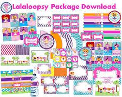 lalaloopsy party supplies lalaloopsy party etsy