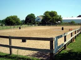 Outdoor Arena Lights by Outdoor Riding Arena Fencing Idea For The Barn Pinterest