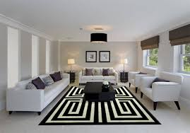 Black And White Throw Rugs 23 Modern Living Rooms Adorned With Black And White Area Rugs