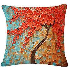 Cusion Cover Amazon Com Jinbeile Cotton Linen Throw Pillow Cover Decorative 18