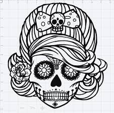 sugar skull design svg eps dxf studio 3 cut file