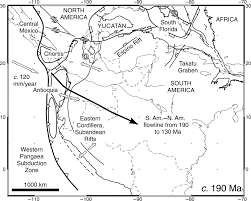 Black And White Map Of Central America by Dextral Shear Terrane Accretion And Basin Formation In The