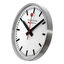 chic mondaine wall clock 40cm 55 mondaine official swiss railway
