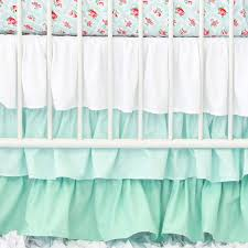 mint gradient ruffle crib skirt caden lane