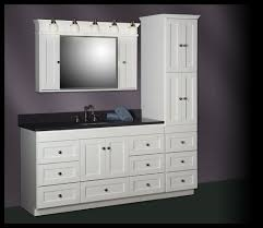 linen cabinet tower 18 wide strasser shaker 60 vanity with linen tower ideas for the house