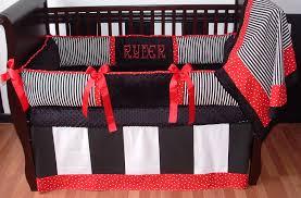 Baby Boy Blue Crib Bedding by Interior Black And Blue Crib Bedding On White Wooden Crib Nice