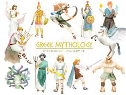 gods clipart ancient greek pencil and in color gods clipart