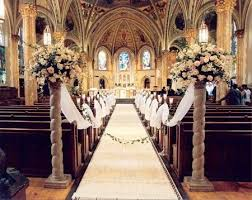 church wedding decorations 140 best church wedding ceremony with decoration images on