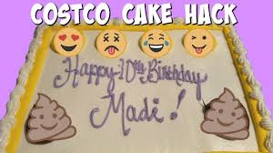 costco cake hack what to do when your kid doesn u0027t want any of