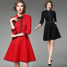 New Ladies Fashion Red Christmas Dress 2018 Vestidos Ukraine Black Wom