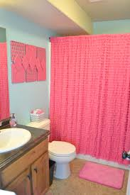 Ombre Ruffle Shower Curtain Beautiful Pink Shower Curtain Contemporary Aamedallions Us