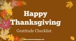 happy thanksgiving gratitude checklist elder care issues