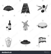 set pictures about spain sights spain stock vector 662547100