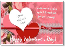 valentine u0027s photo card templates add your picture to online