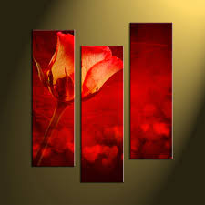 home decor canvas 4 piece brown canvas flowers wall art