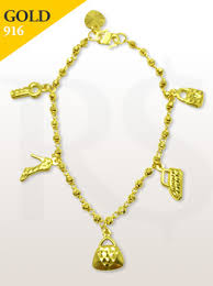 bracelet pandora gold images Bracelet charms pandora 916 gold 7 0 gram buy silver malaysia jpg