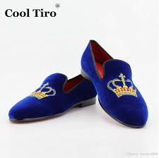 popular mens loafers dress shoes velvet embroidery red bottoms