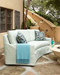 elena curved outdoor sofa