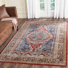 Orange And Brown Area Rugs Rug Bij636b Bijar Area Rugs By Safavieh
