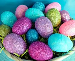 glitter easter eggs two sisters crafting