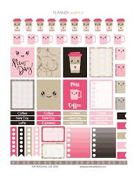 coffee planner stickers printable coffee kawaii planner addiction printable planner stickers