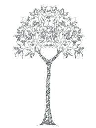 coloring pages of trees coloring pages for trees and birds page