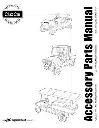 accessory parts manual all vehicles incl beverage