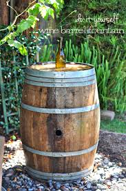 wine barrel water fountain a lo and behold life