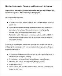 Business Intelligence Vision Statement Exles by 9 Mission Statement Exles Sles