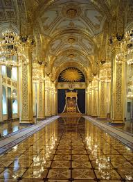 palace interiors red yellow glowing moscow terem palace the throne room via
