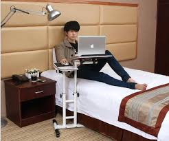 Bed Laptop Desk Bedside Computer Table Laptop Bedside Table Movable Across The Bed
