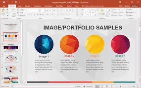 infographic template powerpoint animated polygon infographic