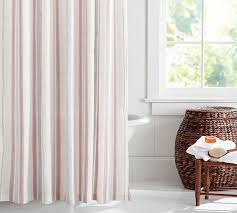 Stripe Shower Curtains Bradley Stripe Shower Curtain Pottery Barn