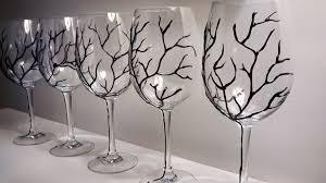 decorazioni bicchieri calici da vino bicchieri decorati a mano ramo d albero nero