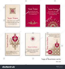 Standard Invitation Card Sizes Set Six Vertical Business Cards Beautiful Stock Vector 165016868