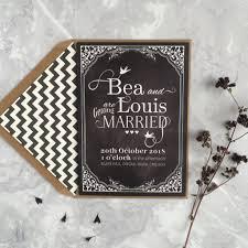 chalkboard wedding invitations vintage chalkboard wedding invitation by papergrace