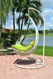 outdoor balance curve porch swing wicker chair birgitte dl021wht