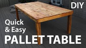 How To Make A Table Out Of Pallets Diy Pallet Table Youtube