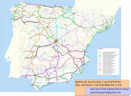 Map Of Northern France by Highways In Spain Motorway Maps Road Tolls Maximum Speed