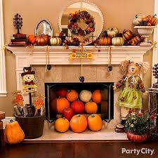 transform your mantel fireplace into a cornucopia of harvest