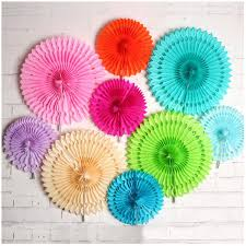 paper fan circle decorations one set single layer paper fan flowers wedding birthday party