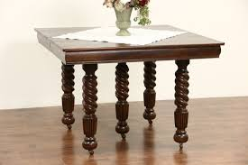 Dining Table Leaves Sold Oak 1900 Antique Square Dining Table 4 Leaves 5 Spiral