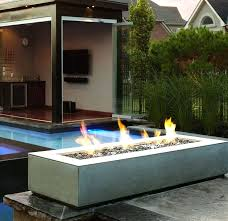 Modern Firepits Rectangular Outdoor Pit Modern Firepit Garden And Lawn
