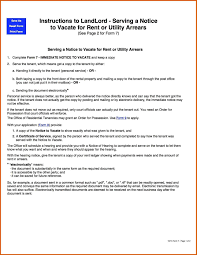 Reference Template For Landlord Landlord Notice To Vacate Apa Examples