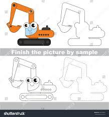 Isometric Drawing Worksheets Drawing Worksheet Children Easy Educational Kid Stock Vector