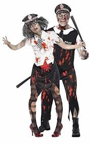 Police Woman Halloween Costume Mens U0026 Ladies Couples Fancy Dress Dead Zombie Policeman