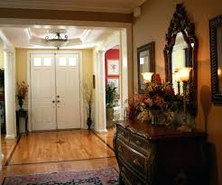 large round foyer mirror hallway with behind console table small