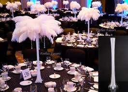 ostrich feather centerpieces 12 complete ostrich feather hanging waterdrop centerpiece